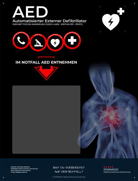 STARMEDIC AED Hinweistafel Basic II