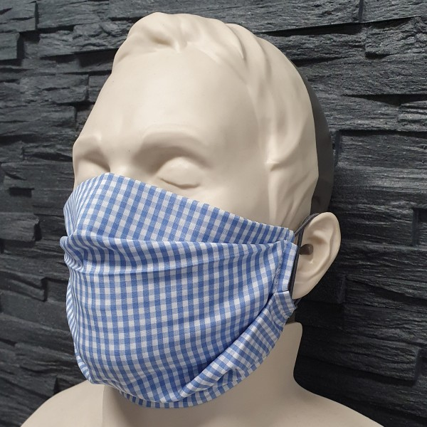 Maske aus Baumwolle blau
