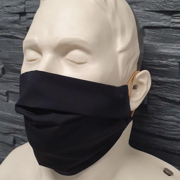 Maske aus Baumwolle schwarz