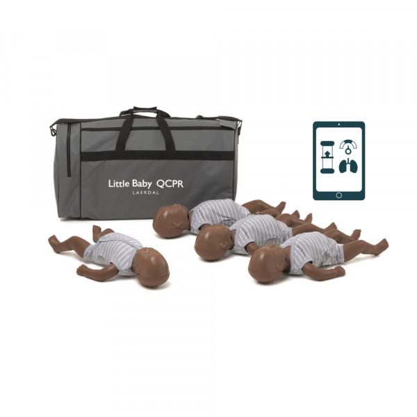 Laerdal Little Baby QCPR 4er Pack (dunkelhäutig)