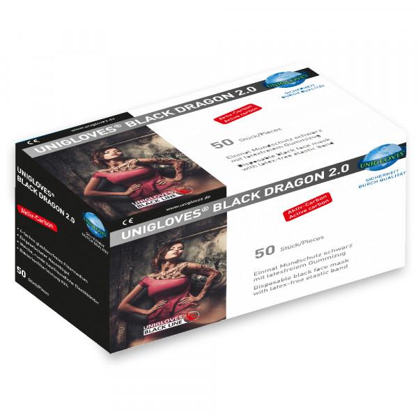 Unigloves Mundschutz Black Dragon 2.0 50er Box