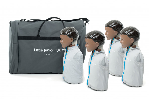 Laerdal Little Junior QCPR 4er Pack (dunkelhäutig)
