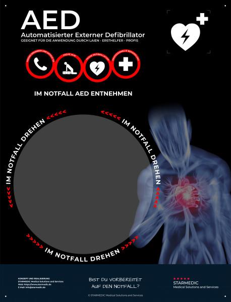 STARMEDIC AED Hinweistafel Basic IIR
