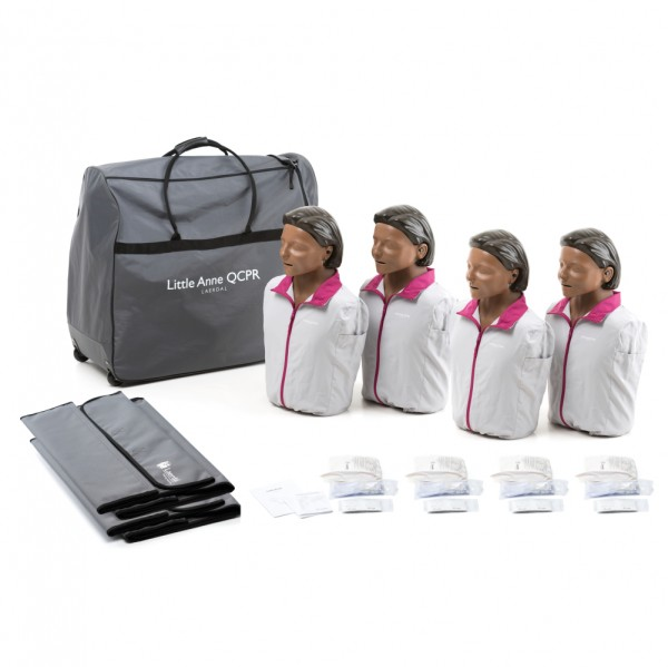Laerdal Little Anne QCPR 4er Pack (dunkelhäutig)