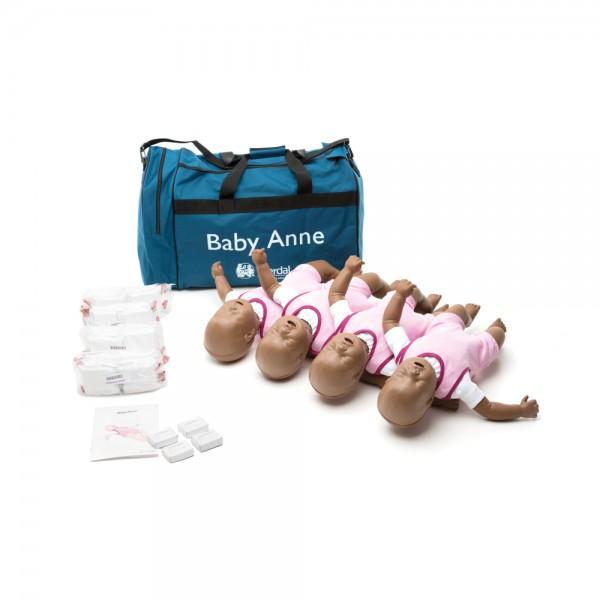 Laerdal Baby Anne 4er Pack (dunkelhäutig)